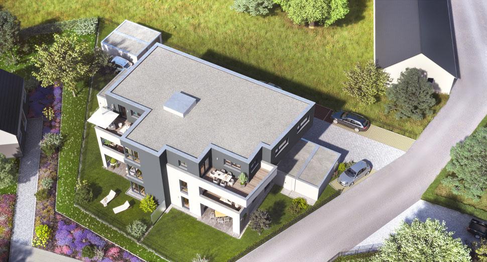 architekten mehrfamilienhaus mit 6 eigentumswohnungen in dasing ecobau. Black Bedroom Furniture Sets. Home Design Ideas
