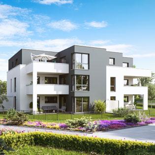 Ecobau projekte for Mehrfamilienhaus modern
