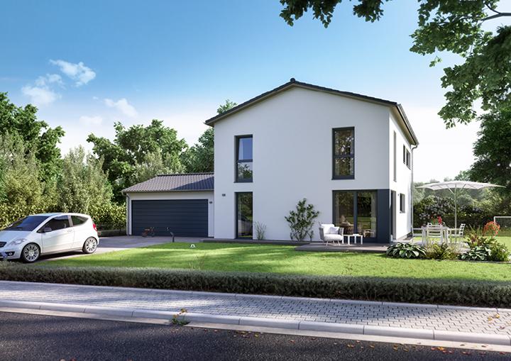 Individuelles Einfamilienhaus Mit Doppelgarage In