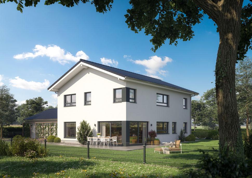 Klassisch und modern einfamilienhaus in rieden ecobau for Einfamilienhaus klassisch
