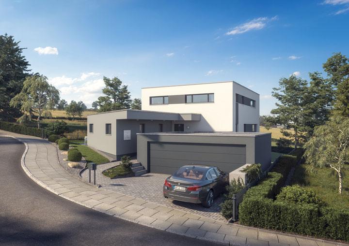 Architekten-Einfamilienhaus mit barrierefreier ...